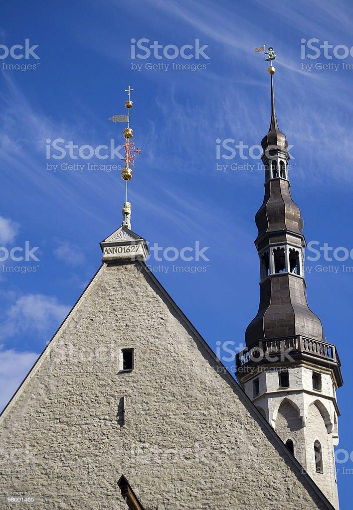 Tallinn town hall stock photo