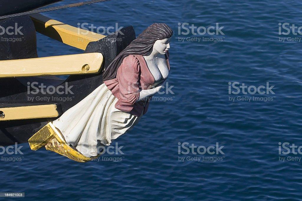 Tallship Figurehead stock photo