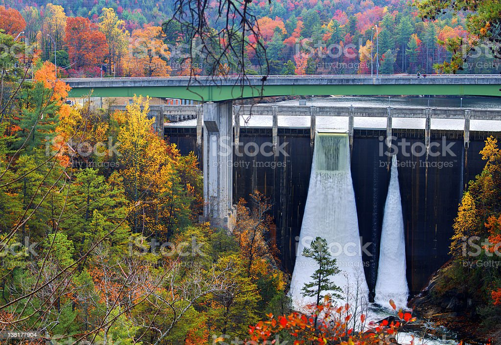 Tallulah Gorge Dam royalty-free stock photo