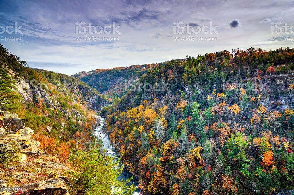 Tallulah Gorge in Georgia stock photo