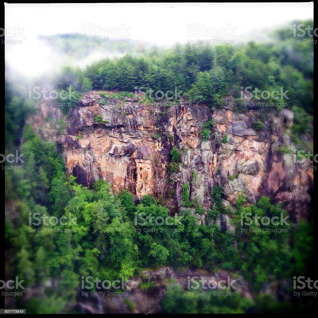 Tallulah Gorge State Park in North Georgia, USA royalty-free stock photo