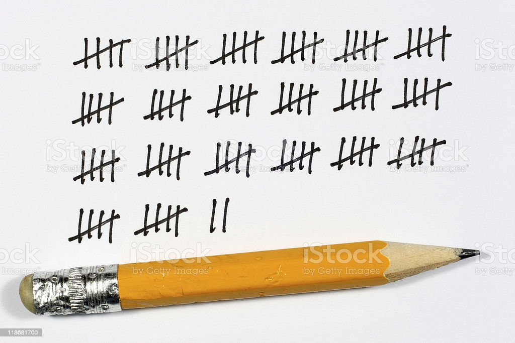tally royalty-free stock photo