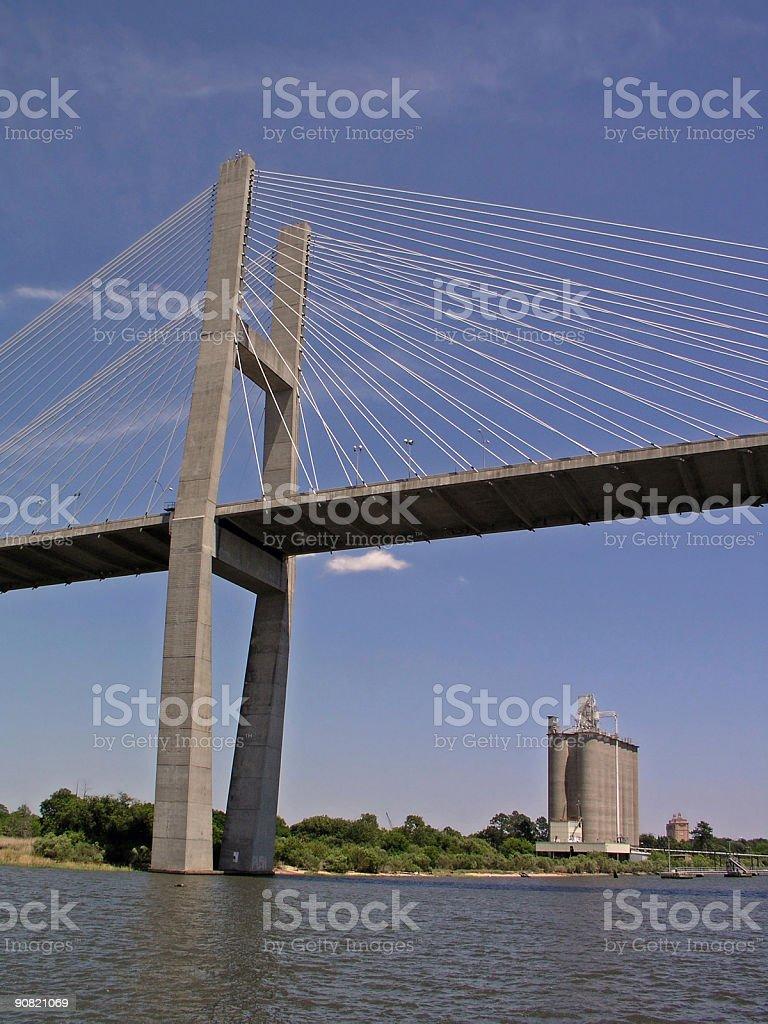 Talmadge Bridge in Savannah stock photo