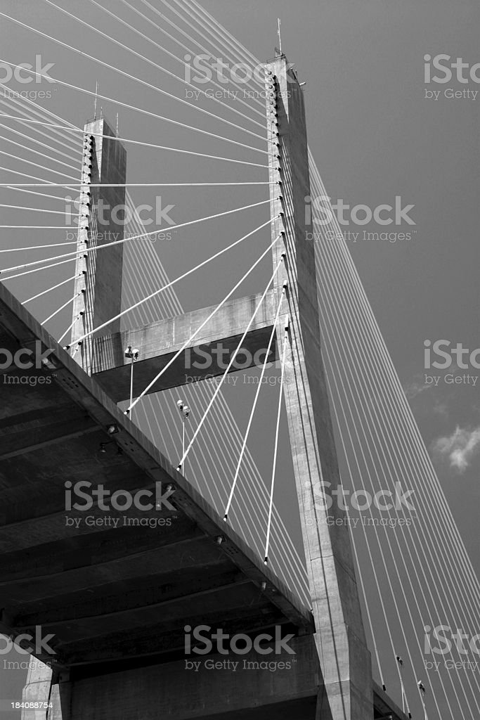 Talmadge Bridge stock photo