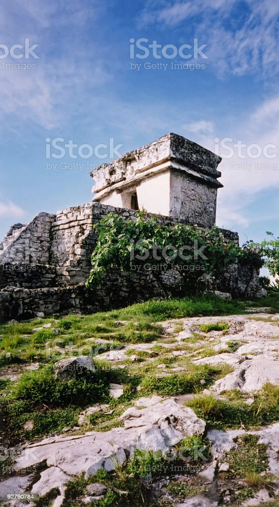 talum mayan temple ruins mexico royalty-free stock photo