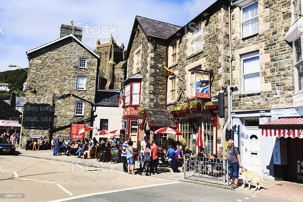 Tal-Y-Don Hotel in Barmouth, West Wales royalty-free stock photo