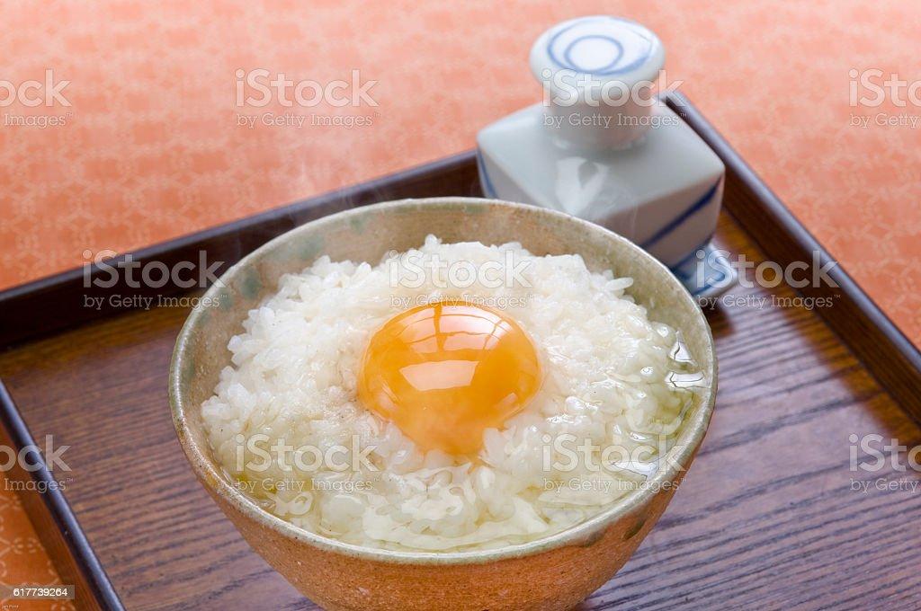 Tamago kake gohan stock photo