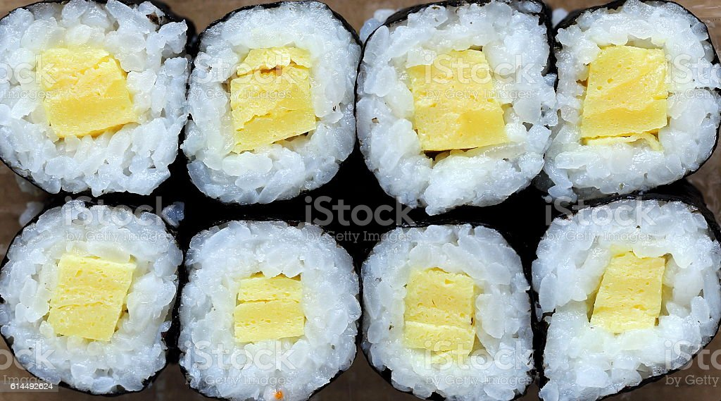 Tamago Maki Roll stock photo