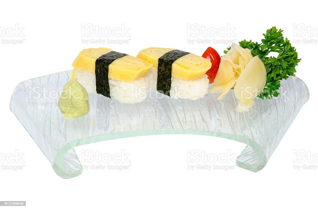 Tamago sushi stock photo