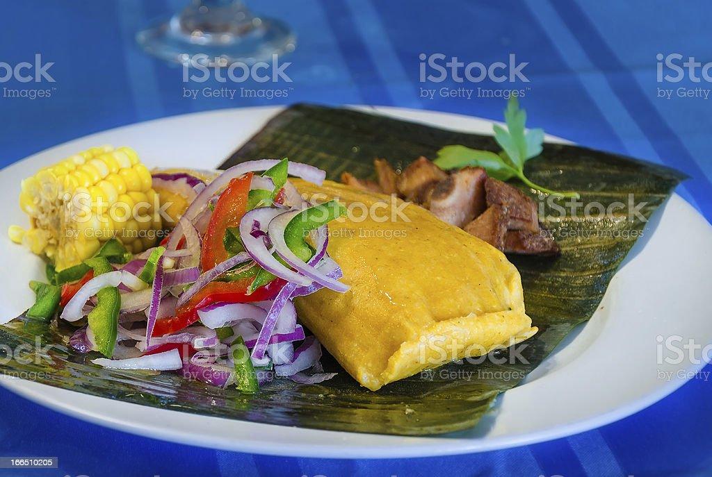 Tamal Dish stock photo
