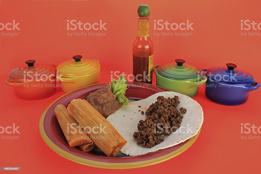 Tamale Plate stock photo