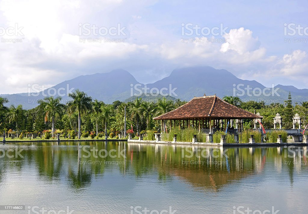 Taman Ujung water palace on Bali stock photo
