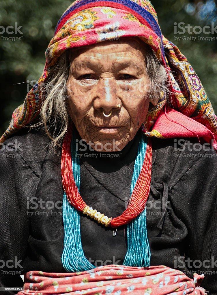 Tamang Woman royalty-free stock photo
