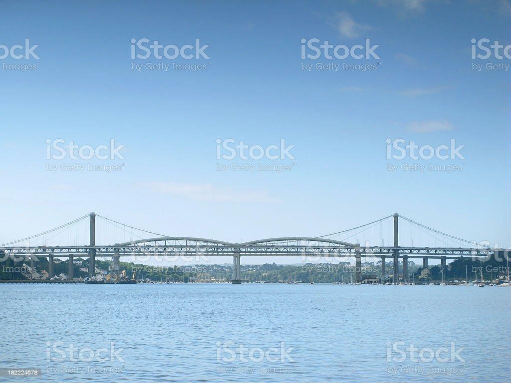 Tamar and Brunel bridges, Plymouth. stock photo
