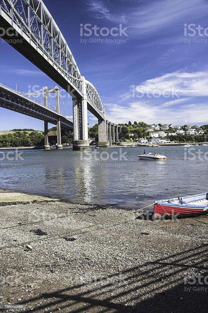 Tamar Bridge royalty-free stock photo