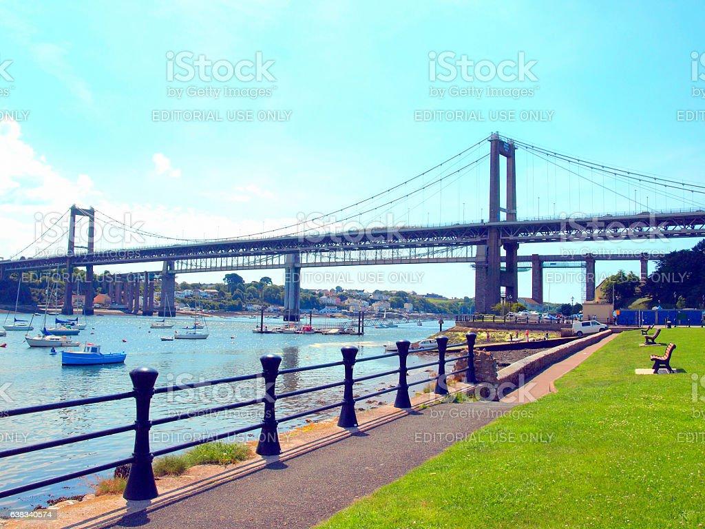 Tamar Bridges. stock photo
