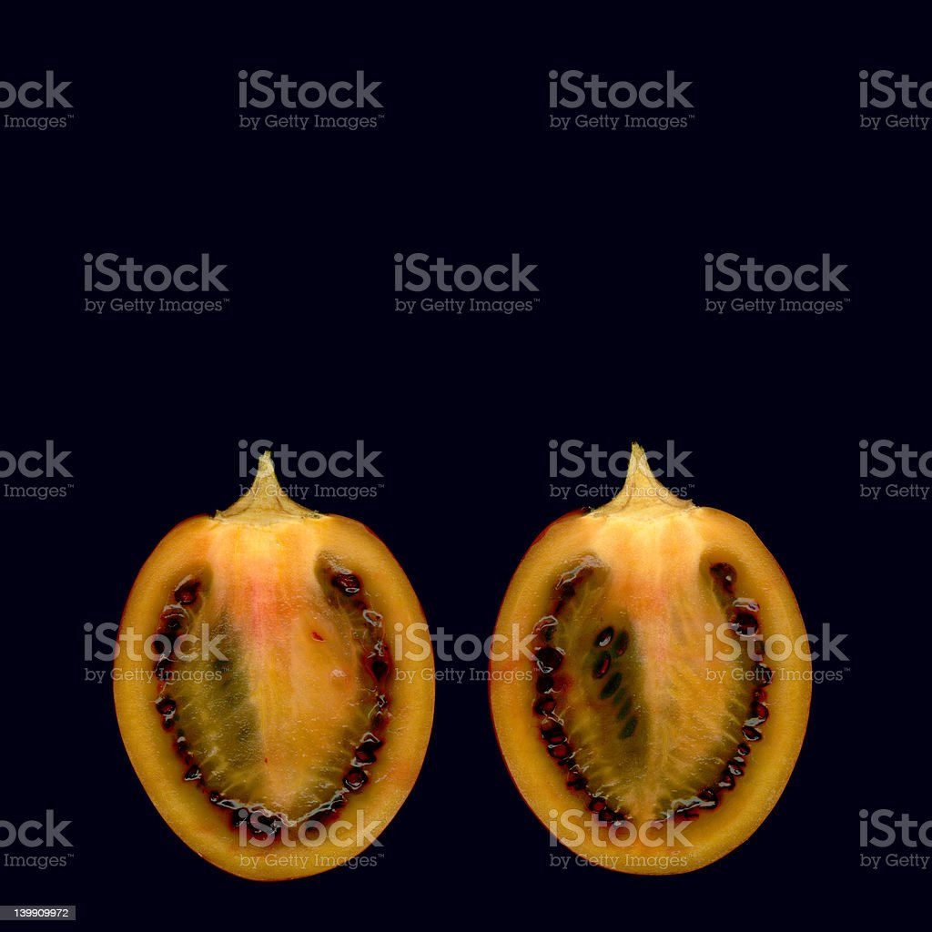 Tamarillo cut in half royalty-free stock photo