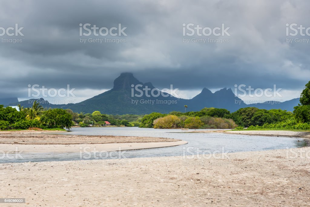 Tamarin Bay, Black River, Mauritius stock photo