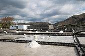 Tamarin Salt Pans, Mauritius, Indian Ocean, Africa