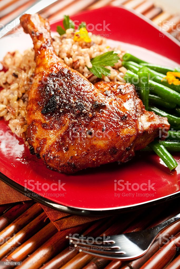Tamarind Barbecue Duck royalty-free stock photo