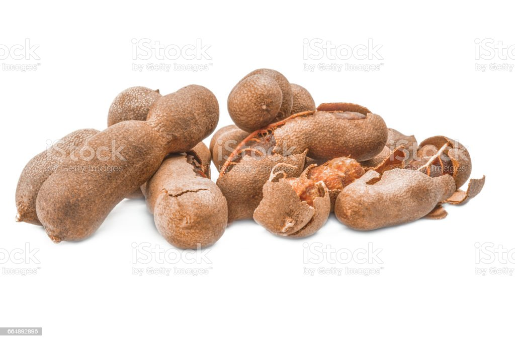 Tamarind isolated on a white cutout stock photo