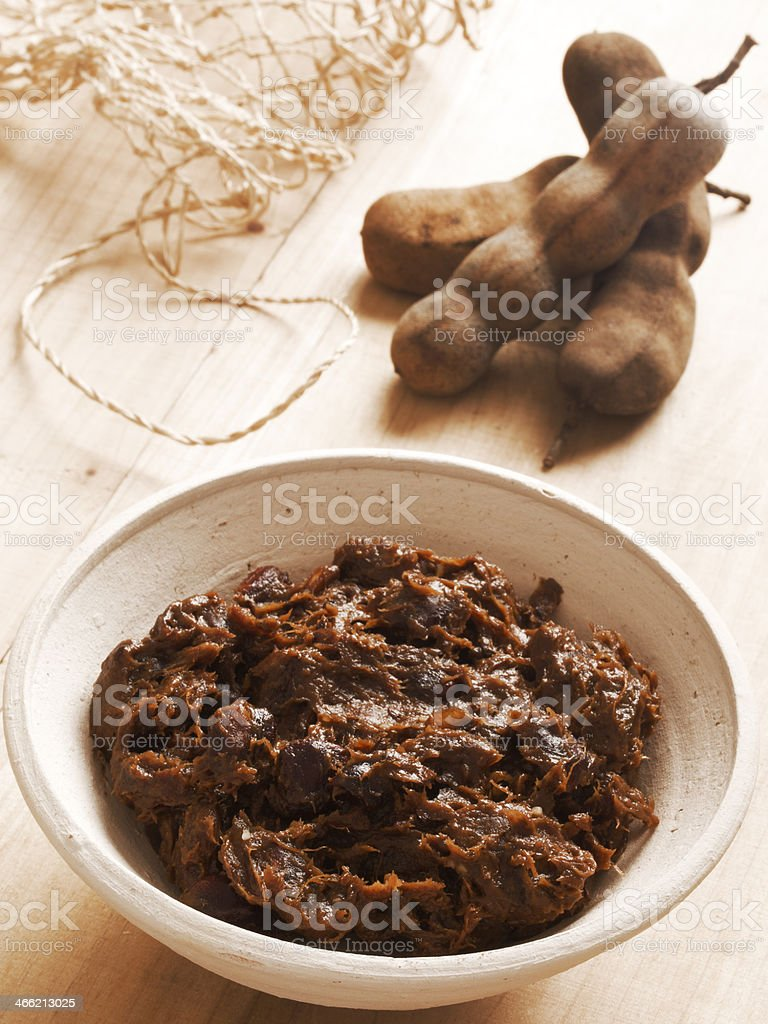 tamarind paste stock photo