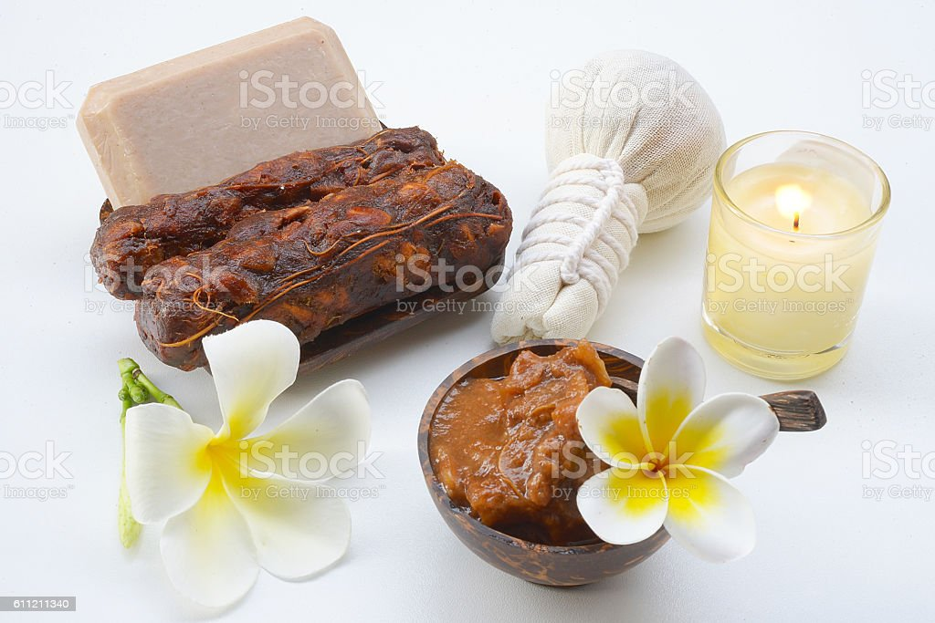 Tamarind Spa soap for the face and body. stock photo