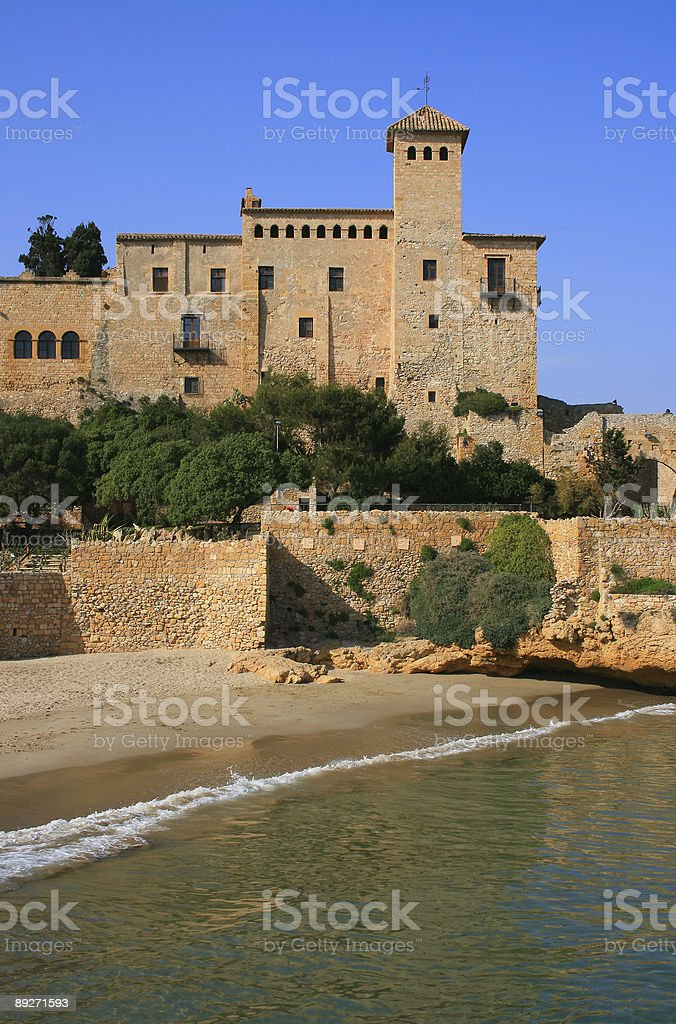 Tamarit Castle stock photo
