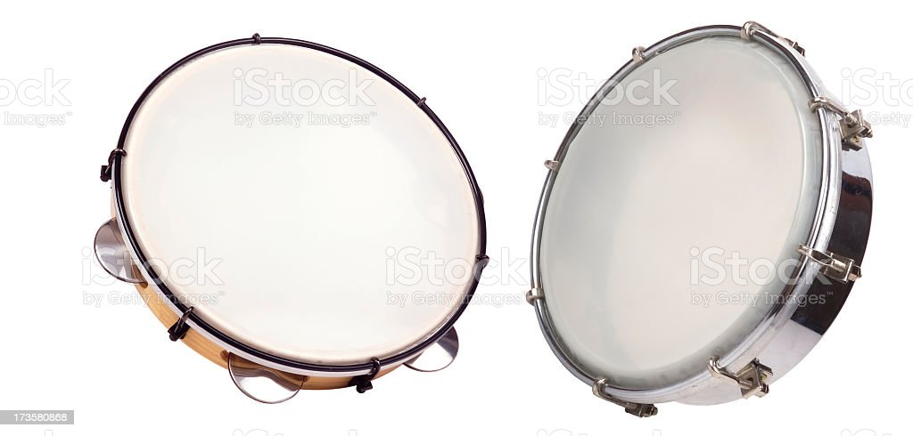 Tambourin Family (Clipping Paths) royalty-free stock photo