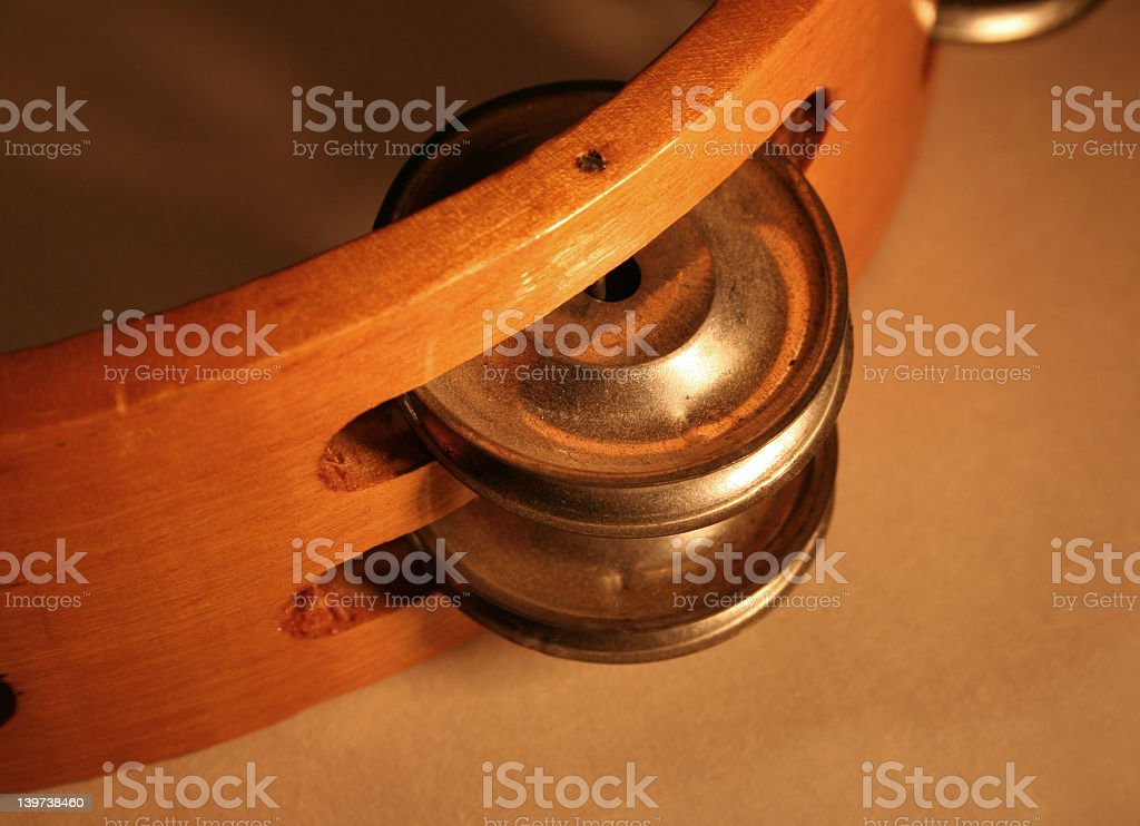 Tambourine Cymbal royalty-free stock photo