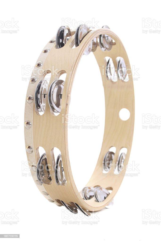 Tambourine isolated on white background royalty-free stock photo