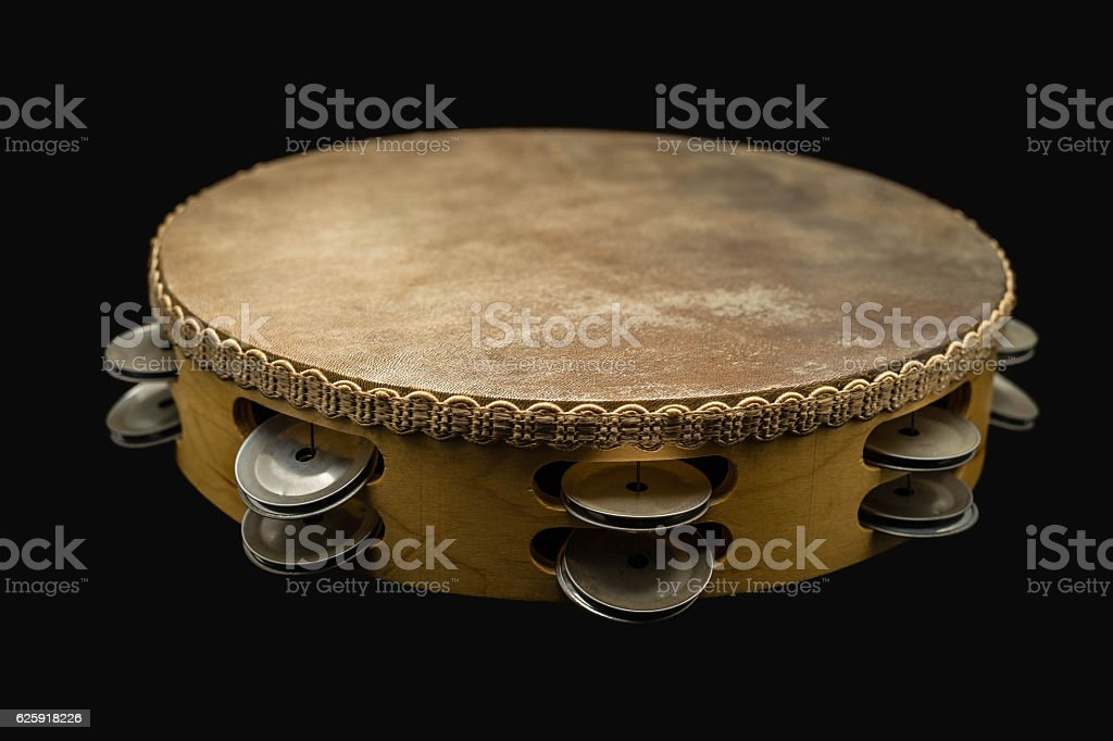 Tambourine, Middle East Culter Percussion Instrument stock photo