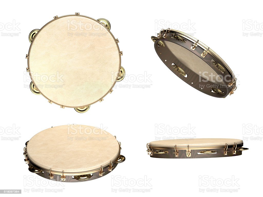 tambourine musical instrument stock photo