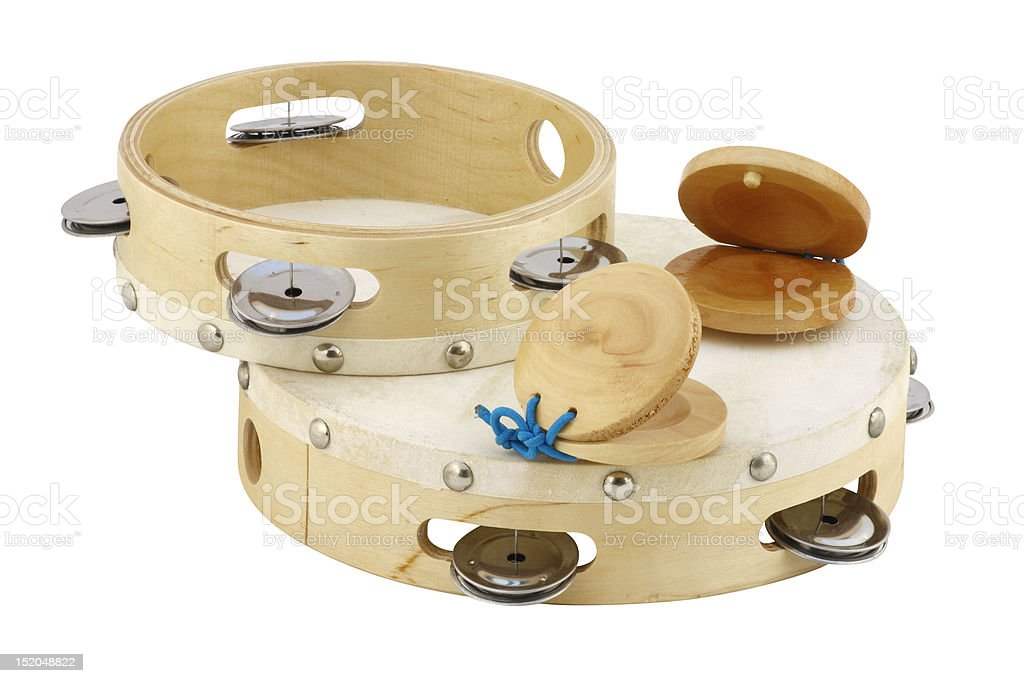 tambourines and castanets stock photo