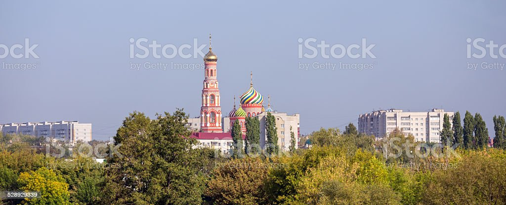 Tambov city. Cathedral of the Ascension stock photo