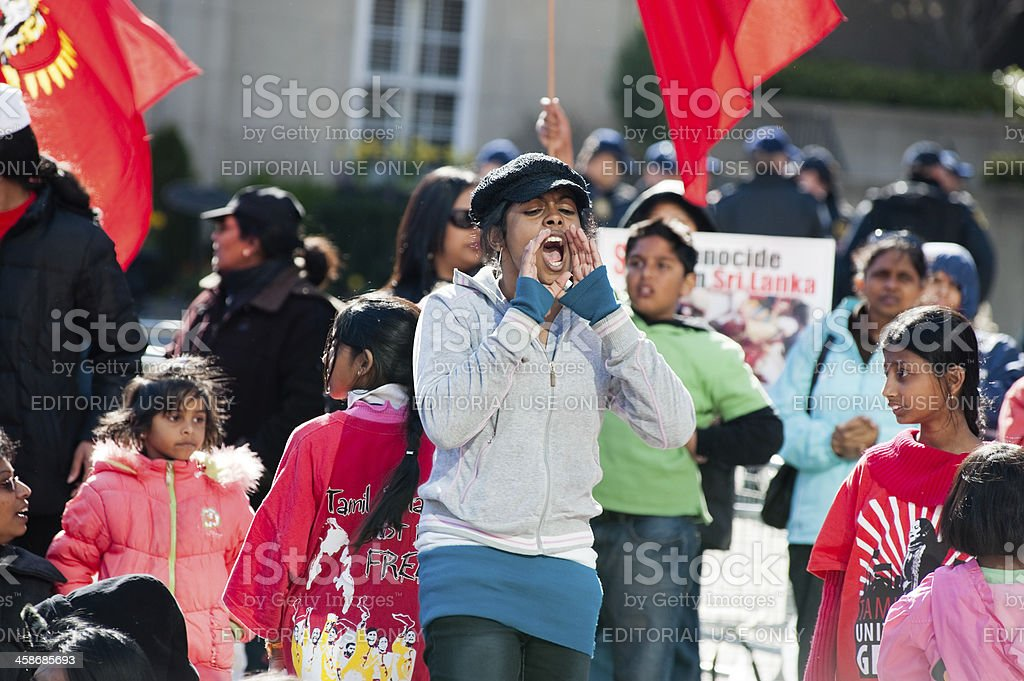 Tamil Protesters stock photo