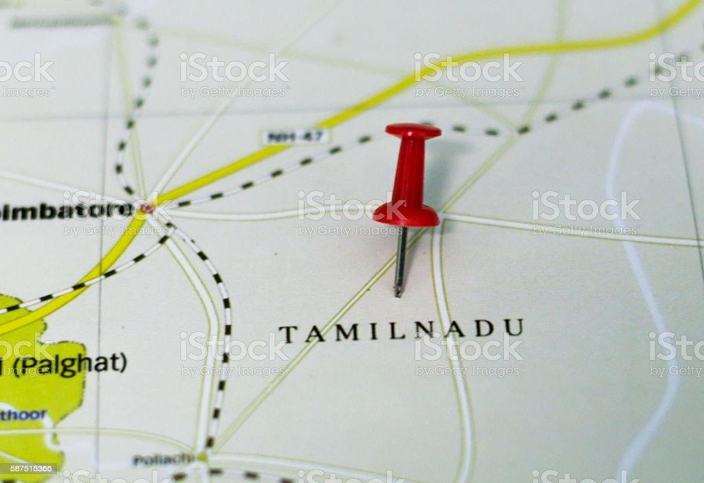 Tamilnadu Map stock photo