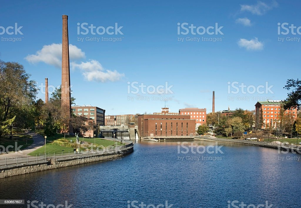 Tammerkoski channel in Tampere. Finland stock photo