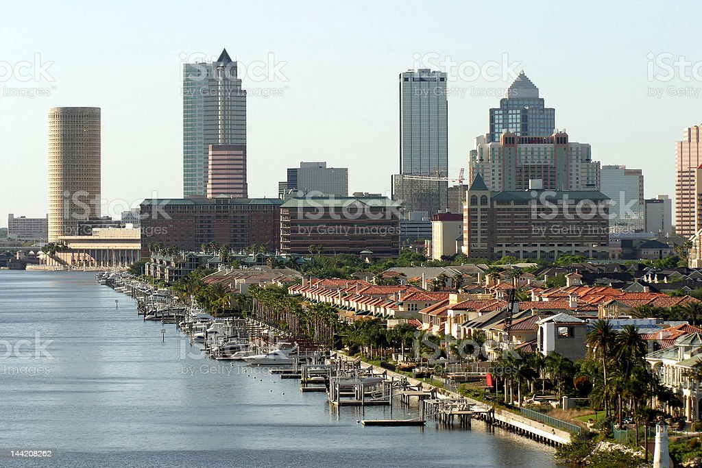 Tampa downtown stock photo