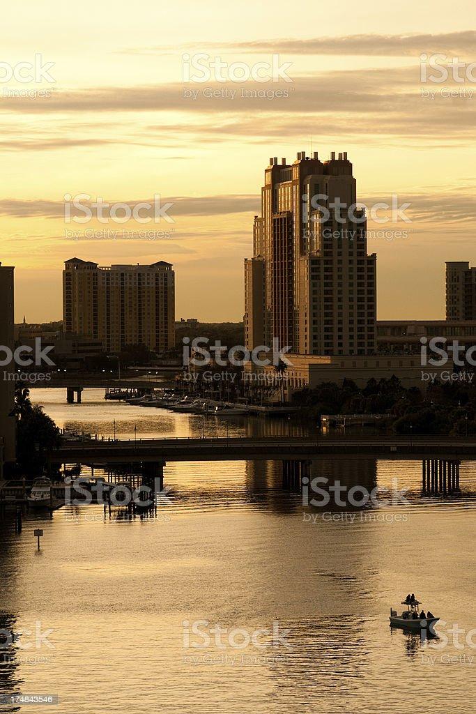 Tampa, Florida - Hillsborough Bay royalty-free stock photo