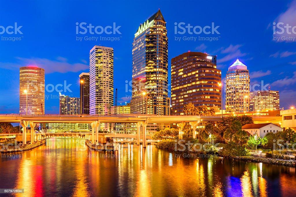 Tampa, Florida Skyline stock photo