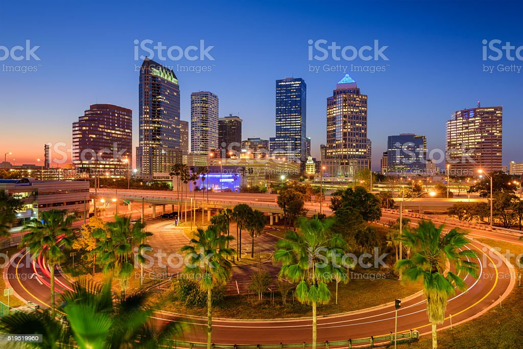 Tampa Florida Skyline stock photo