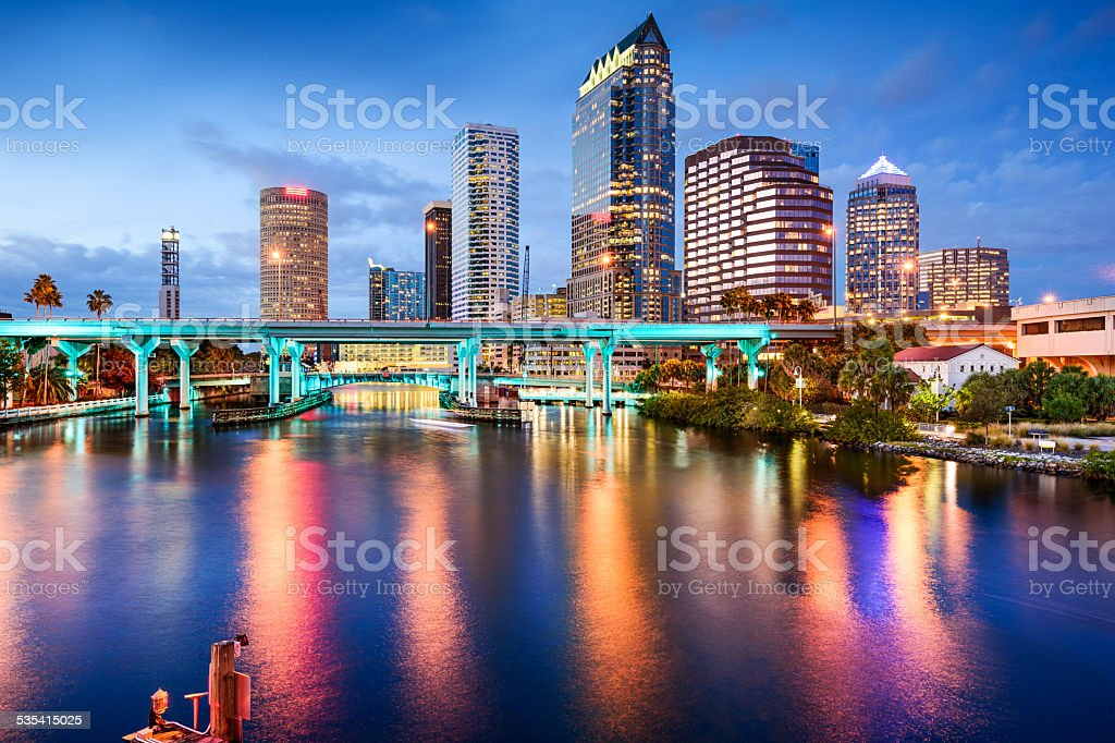 Tampa, Florida Skyline stock photo
