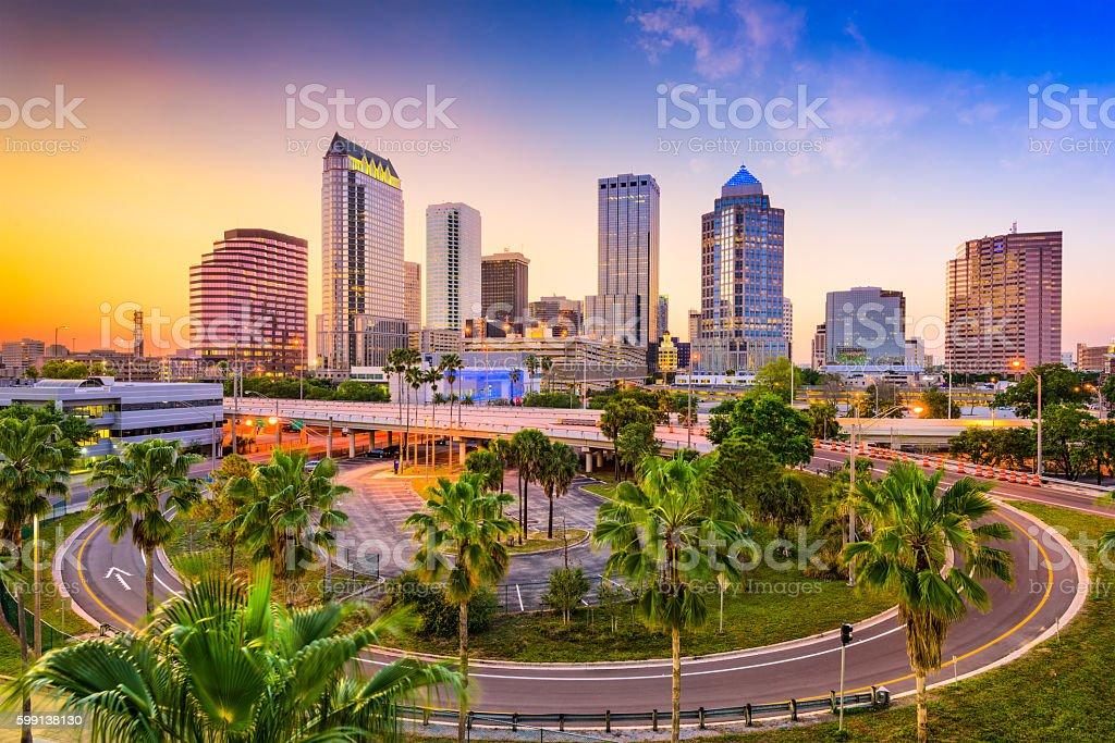 Tampa Florida Skyline stock photo