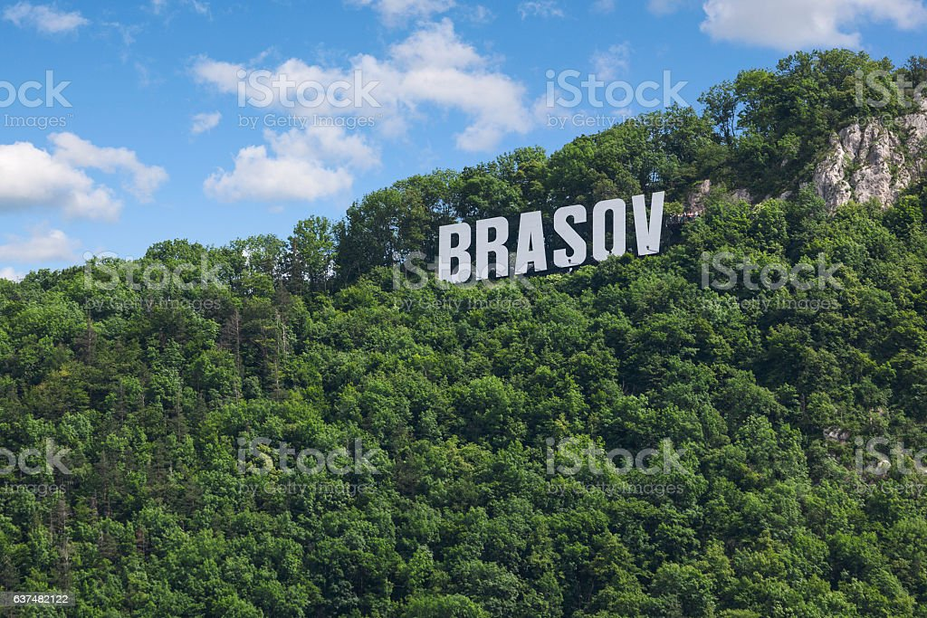 Tampa mountain, Brasov stock photo