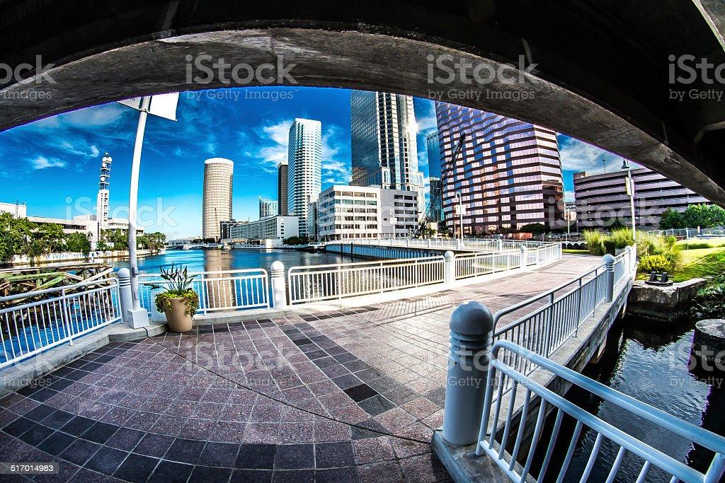Tampa Riverwalk stock photo