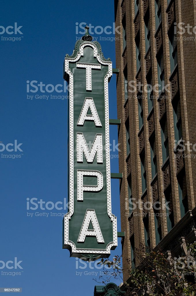 Tampa Sign stock photo