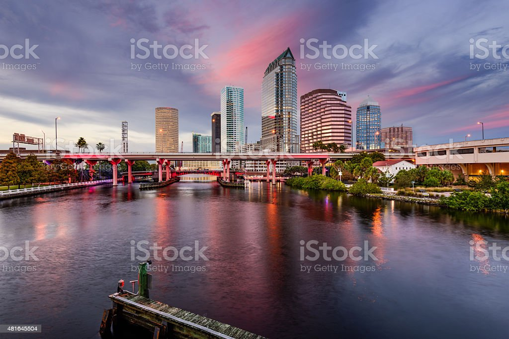 Tampa Skyline stock photo