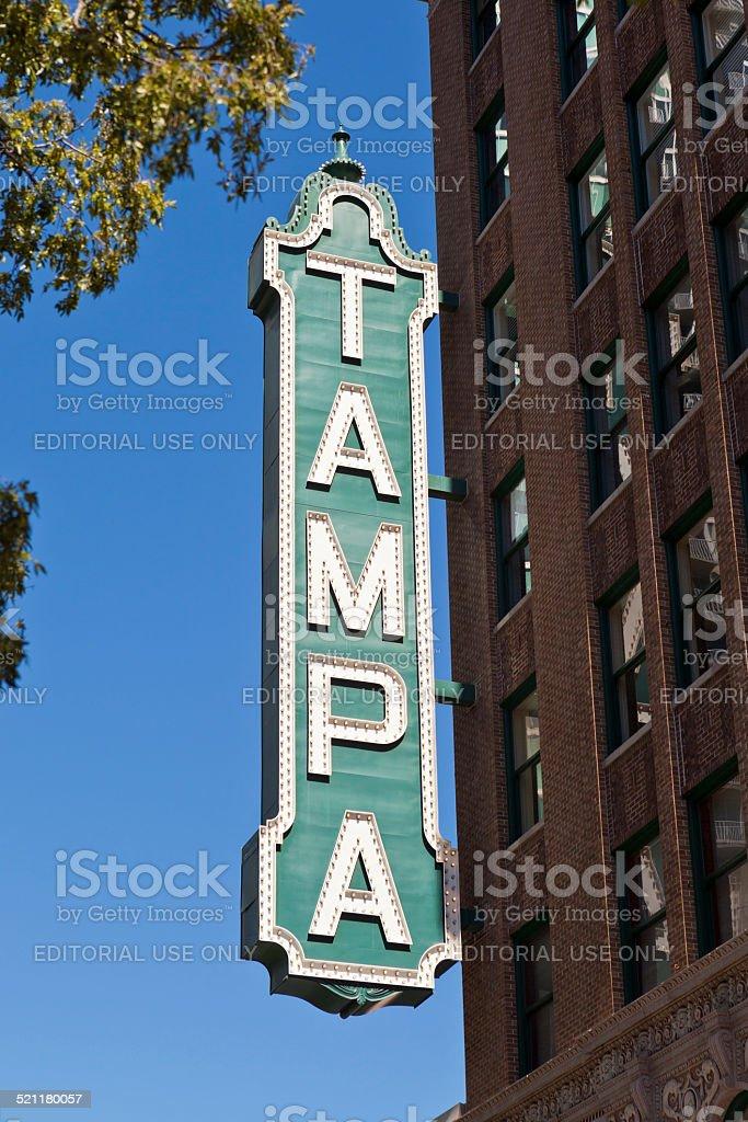 Tampa Theatre stock photo