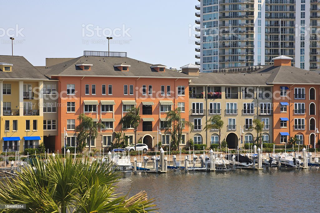 Tampa Waterfront Condominiums royalty-free stock photo